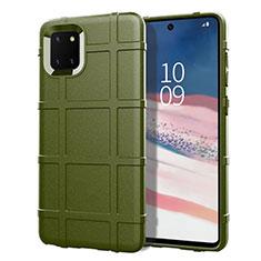 Custodia Silicone Ultra Sottile Morbida 360 Gradi Cover per Samsung Galaxy A81 Verde