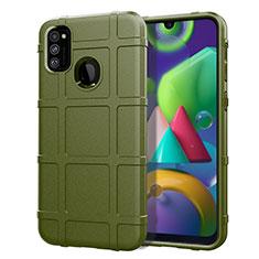 Custodia Silicone Ultra Sottile Morbida 360 Gradi Cover per Samsung Galaxy M21 Verde