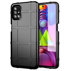 Custodia Silicone Ultra Sottile Morbida 360 Gradi Cover per Samsung Galaxy M51 Nero