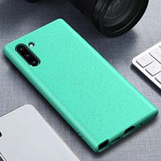 Custodia Silicone Ultra Sottile Morbida 360 Gradi Cover per Samsung Galaxy Note 10 Ciano