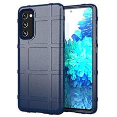 Custodia Silicone Ultra Sottile Morbida 360 Gradi Cover per Samsung Galaxy S20 FE 5G Blu