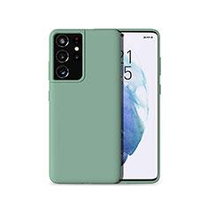 Custodia Silicone Ultra Sottile Morbida 360 Gradi Cover per Samsung Galaxy S21 Ultra 5G Verde