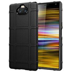 Custodia Silicone Ultra Sottile Morbida 360 Gradi Cover per Sony Xperia 10 Plus Nero