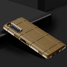 Custodia Silicone Ultra Sottile Morbida 360 Gradi Cover per Sony Xperia 5 Marrone