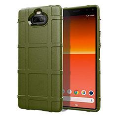 Custodia Silicone Ultra Sottile Morbida 360 Gradi Cover per Sony Xperia 8 Lite Verde Militare