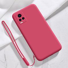 Custodia Silicone Ultra Sottile Morbida 360 Gradi Cover per Vivo V20 Pro 5G Rosso Rosa