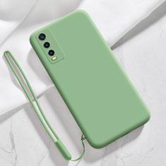 Custodia Silicone Ultra Sottile Morbida 360 Gradi Cover per Vivo Y12s Verde