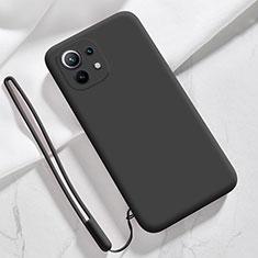 Custodia Silicone Ultra Sottile Morbida 360 Gradi Cover per Xiaomi Mi 11 5G Nero