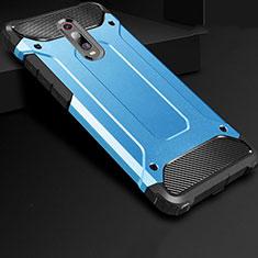 Custodia Silicone Ultra Sottile Morbida 360 Gradi Cover per Xiaomi Mi 9T Blu