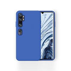 Custodia Silicone Ultra Sottile Morbida 360 Gradi Cover per Xiaomi Mi Note 10 Blu