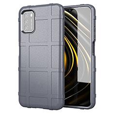 Custodia Silicone Ultra Sottile Morbida 360 Gradi Cover per Xiaomi Poco M3 Grigio