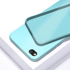 Custodia Silicone Ultra Sottile Morbida 360 Gradi Cover per Xiaomi Redmi Go Ciano