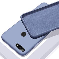 Custodia Silicone Ultra Sottile Morbida 360 Gradi Cover S01 per Huawei Honor 7A Blu