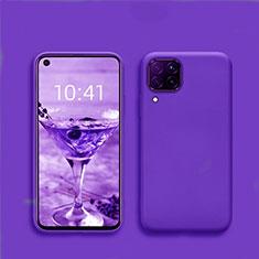 Custodia Silicone Ultra Sottile Morbida 360 Gradi Cover S01 per Huawei P40 Lite Blu
