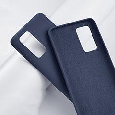 Custodia Silicone Ultra Sottile Morbida 360 Gradi Cover S01 per Huawei P40 Pro+ Plus Blu
