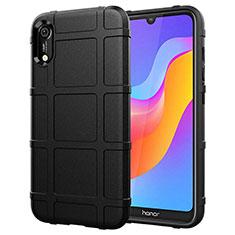 Custodia Silicone Ultra Sottile Morbida 360 Gradi Cover S01 per Huawei Y6 Prime (2019) Nero