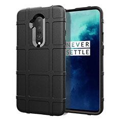 Custodia Silicone Ultra Sottile Morbida 360 Gradi Cover S01 per OnePlus 7T Pro Nero