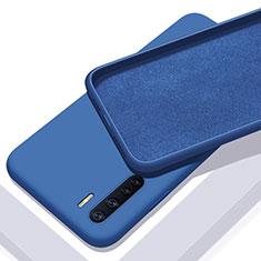 Custodia Silicone Ultra Sottile Morbida 360 Gradi Cover S01 per Oppo A91 Blu