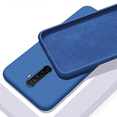 Custodia Silicone Ultra Sottile Morbida 360 Gradi Cover S01 per Oppo Reno Ace Blu