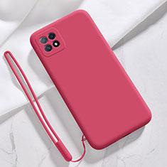 Custodia Silicone Ultra Sottile Morbida 360 Gradi Cover S01 per Oppo Reno4 SE 5G Rosso Rosa