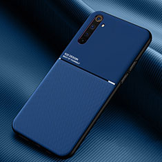 Custodia Silicone Ultra Sottile Morbida 360 Gradi Cover S01 per Realme 6 Pro Blu