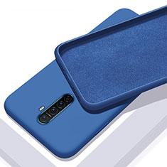 Custodia Silicone Ultra Sottile Morbida 360 Gradi Cover S01 per Realme X2 Pro Blu