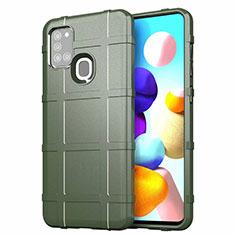 Custodia Silicone Ultra Sottile Morbida 360 Gradi Cover S01 per Samsung Galaxy A21s Verde