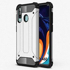 Custodia Silicone Ultra Sottile Morbida 360 Gradi Cover S01 per Samsung Galaxy A60 Argento