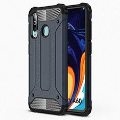 Custodia Silicone Ultra Sottile Morbida 360 Gradi Cover S01 per Samsung Galaxy A60 Blu