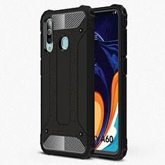 Custodia Silicone Ultra Sottile Morbida 360 Gradi Cover S01 per Samsung Galaxy A60 Nero