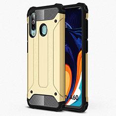 Custodia Silicone Ultra Sottile Morbida 360 Gradi Cover S01 per Samsung Galaxy A60 Oro