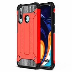 Custodia Silicone Ultra Sottile Morbida 360 Gradi Cover S01 per Samsung Galaxy A60 Rosso