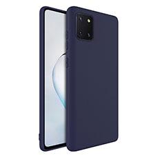 Custodia Silicone Ultra Sottile Morbida 360 Gradi Cover S01 per Samsung Galaxy A81 Blu