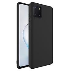 Custodia Silicone Ultra Sottile Morbida 360 Gradi Cover S01 per Samsung Galaxy A81 Nero