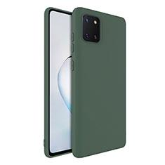 Custodia Silicone Ultra Sottile Morbida 360 Gradi Cover S01 per Samsung Galaxy A81 Verde
