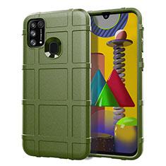Custodia Silicone Ultra Sottile Morbida 360 Gradi Cover S01 per Samsung Galaxy M21s Verde