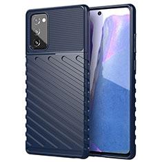 Custodia Silicone Ultra Sottile Morbida 360 Gradi Cover S01 per Samsung Galaxy Note 20 5G Blu