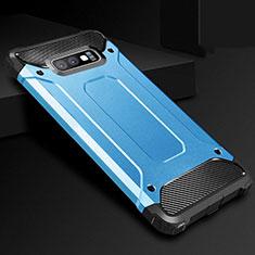 Custodia Silicone Ultra Sottile Morbida 360 Gradi Cover S01 per Samsung Galaxy S10e Blu