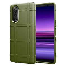 Custodia Silicone Ultra Sottile Morbida 360 Gradi Cover S01 per Sony Xperia 5 Verde