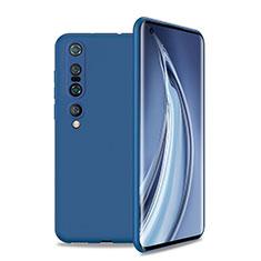 Custodia Silicone Ultra Sottile Morbida 360 Gradi Cover S01 per Xiaomi Mi 10 Pro Blu