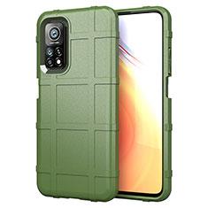 Custodia Silicone Ultra Sottile Morbida 360 Gradi Cover S01 per Xiaomi Mi 10T 5G Verde Militare