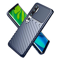 Custodia Silicone Ultra Sottile Morbida 360 Gradi Cover S01 per Xiaomi Mi Note 10 Blu