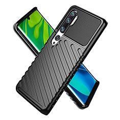 Custodia Silicone Ultra Sottile Morbida 360 Gradi Cover S01 per Xiaomi Mi Note 10 Nero