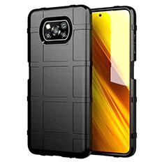 Custodia Silicone Ultra Sottile Morbida 360 Gradi Cover S01 per Xiaomi Poco X3 NFC Nero