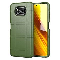 Custodia Silicone Ultra Sottile Morbida 360 Gradi Cover S01 per Xiaomi Poco X3 NFC Verde