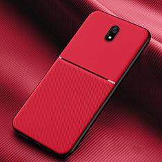 Custodia Silicone Ultra Sottile Morbida 360 Gradi Cover S01 per Xiaomi Redmi 8A Rosso