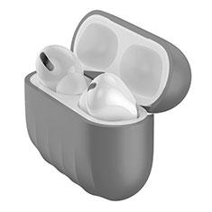 Custodia Silicone Ultra Sottile Morbida 360 Gradi Cover S02 per Apple AirPods Pro Grigio