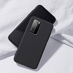 Custodia Silicone Ultra Sottile Morbida 360 Gradi Cover S02 per Huawei P40 Pro Nero