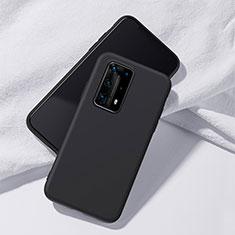 Custodia Silicone Ultra Sottile Morbida 360 Gradi Cover S02 per Huawei P40 Pro+ Plus Nero