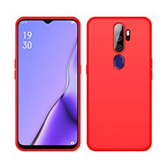 Custodia Silicone Ultra Sottile Morbida 360 Gradi Cover S02 per Oppo A5 (2020) Rosso